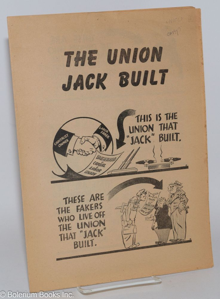 This is the union Jack built. Socialist Labor Party.
