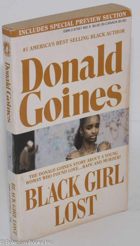 Black girl lost. Donald Goines.