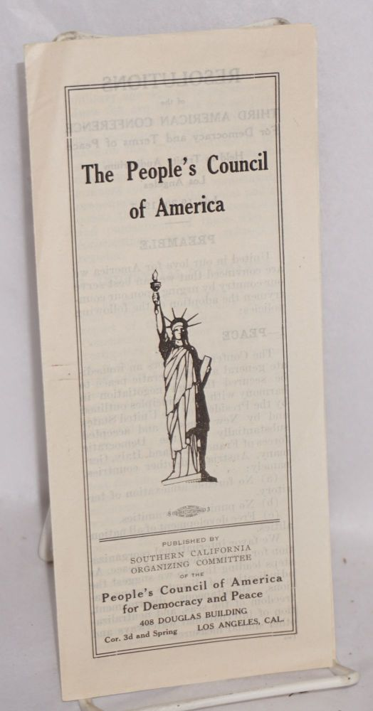 The People's Council of America. People's Council of America for Democracy and Peace.