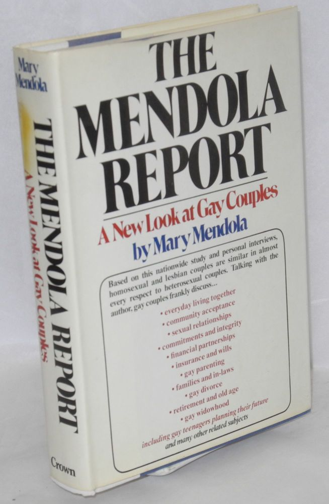 The Mendola report; a new look at gay couples. Mary Mendola.