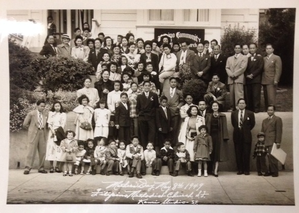 Mothers' Day, May 8, 1949: Filipino Methodist Church, S.F. [two photographs]
