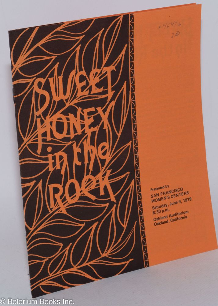 Sweet Honey in the Rock; presented by San Francisco Women's Centers, Saturday, June 9, 1979, 8:30 p.m., Oakland Auditorium, Oakland, California