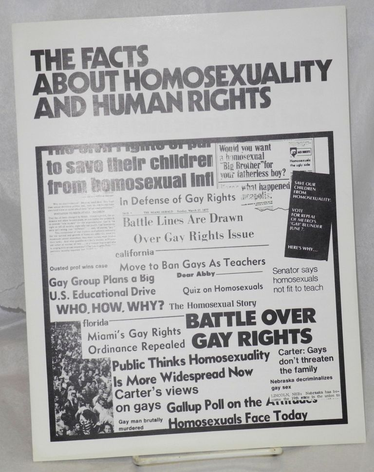 The facts about homosexuality and human rights. Dick Pabich, et. al.