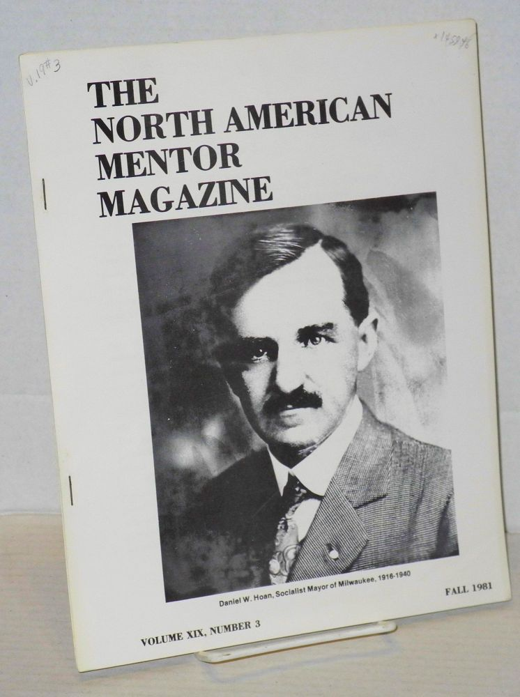 The North American mentor magazine. Volume XIX, no. 3 (Fall 1981). John Westburg, ed.