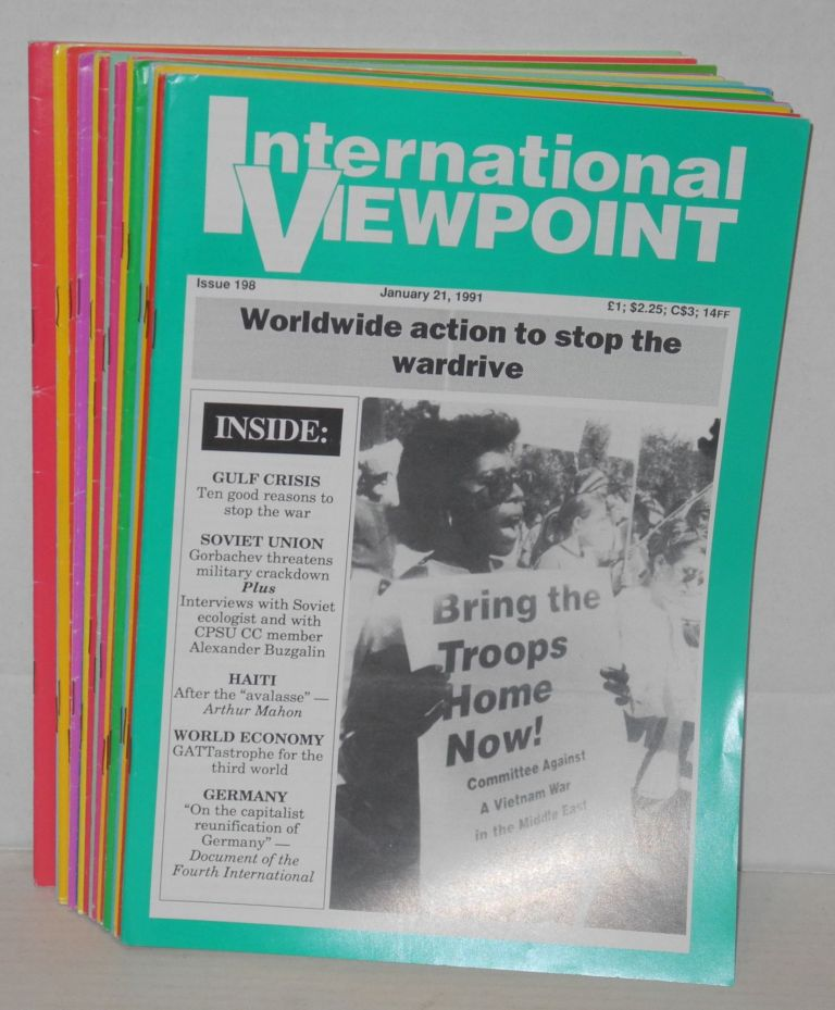 International viewpoint. [all 22 issues for 1991]. United Secretariat Fourth International.