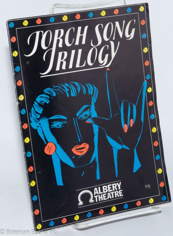 Programme; for Harvey Fierstein's Torch song trilogy starring Antony Sher at the Albery Theatre, London 1985. Harvey Fierstein.