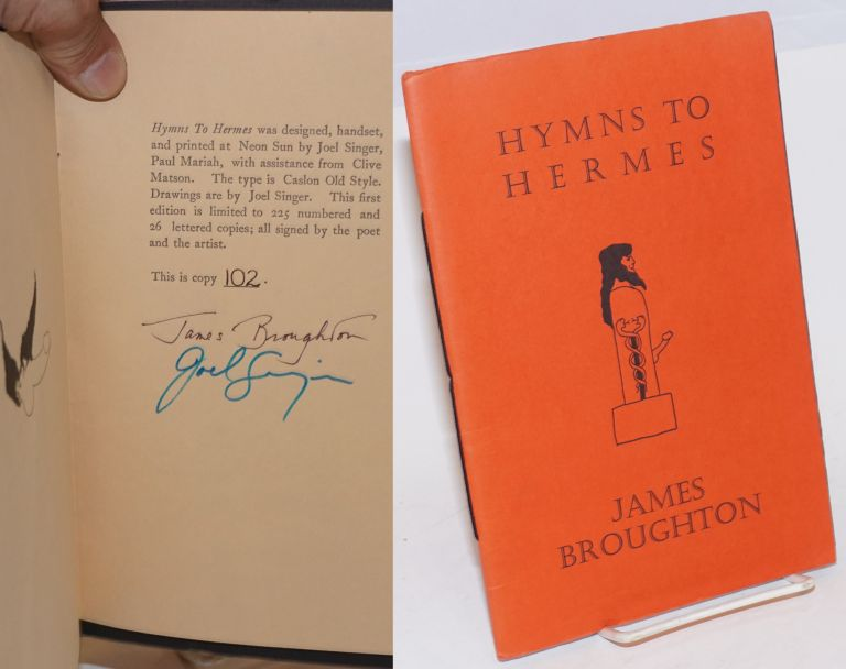 Hymns to Hermes; reveal the beautifying! arouse the world! James Broughton.