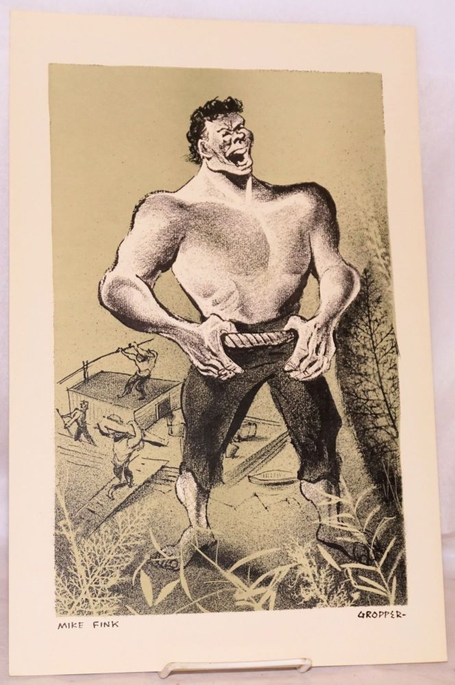 Mike Fink [lithograph]. William Gropper.