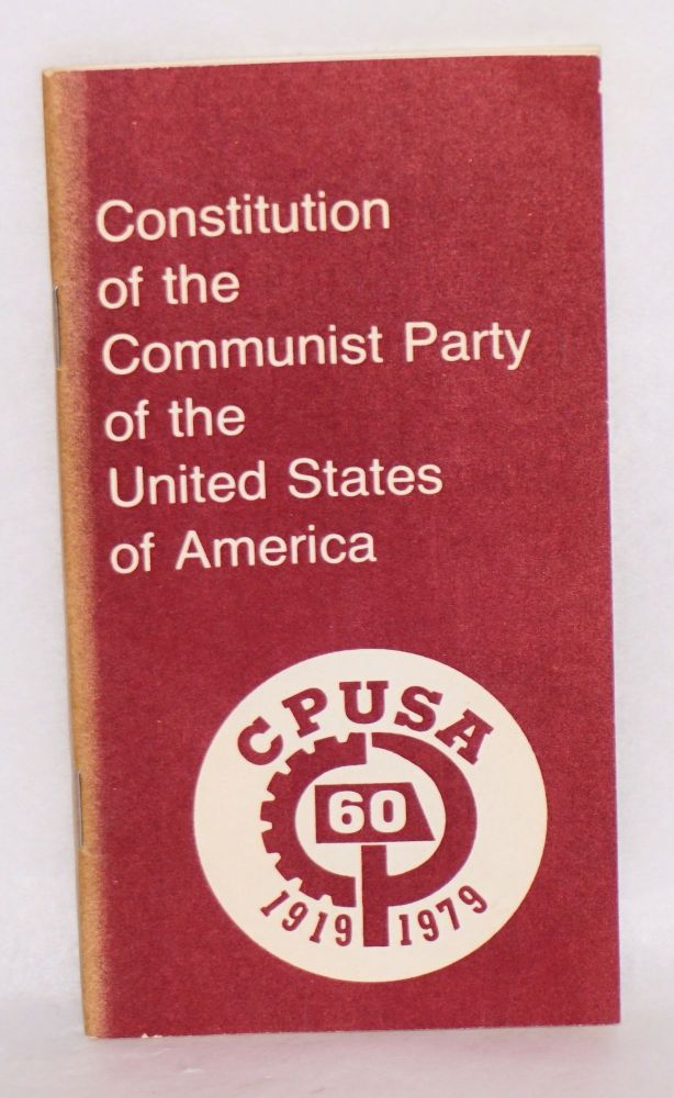 Constitution of the Communist Party of the United States of America. USA Communist Party.