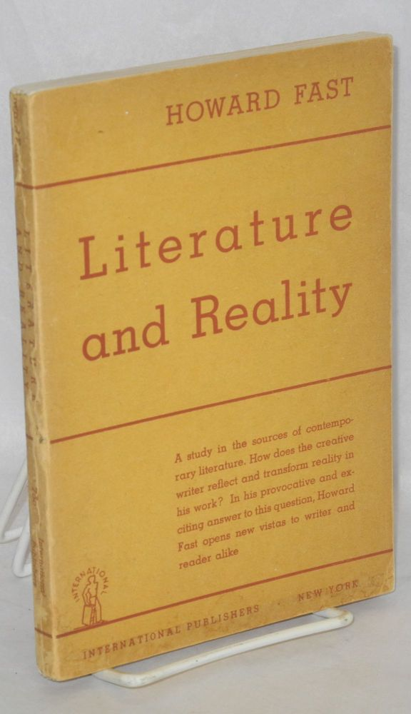 Literature and reality. Howard Fast.
