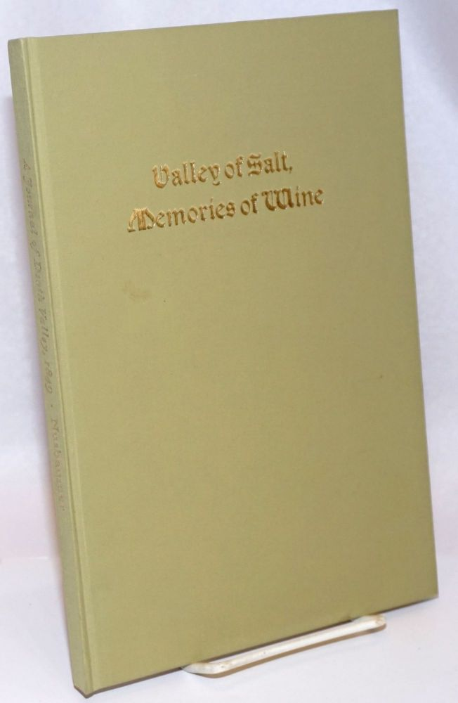 Valley of Salt, Memories of Wine: a Journal of Death Valley 1849. Louis Nusbaumer, George Koenig.