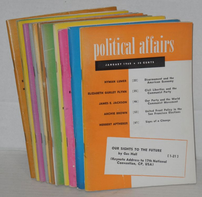 Political affairs, a theoretical and political magazine of scientific socialism. Vol. 39, no. 1, January, 1960 to vol. 39, no. 12, December 1960. Herbert Aptheker, ed.