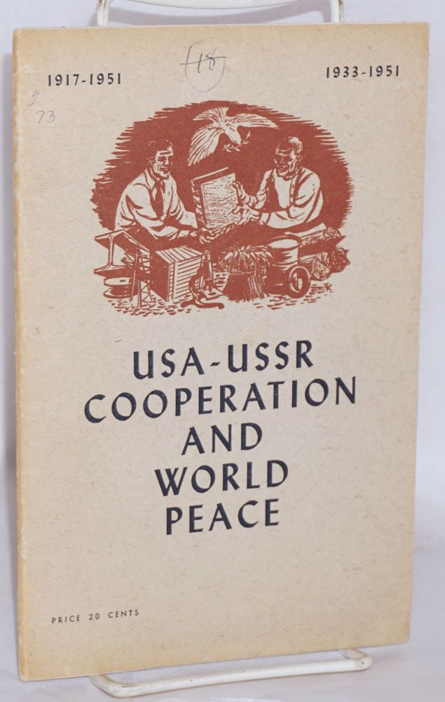 USA-USSR cooperation and world peace. National Council of American-Soviet Friendship.