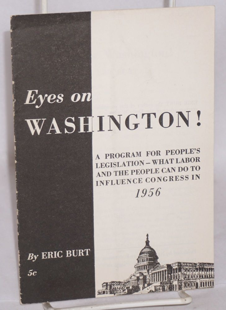 Eyes on Washington! Eric Burt.