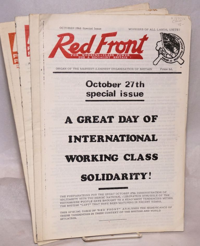 Red Front [four issues]. Marxist-Leninist Organisation of Britain.