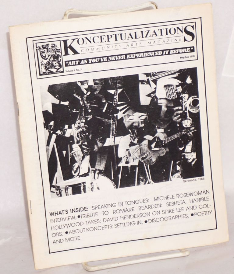 Konceptualizations: community arts magazine volume 4, no. 5, May/June 1988. Devorah Major.