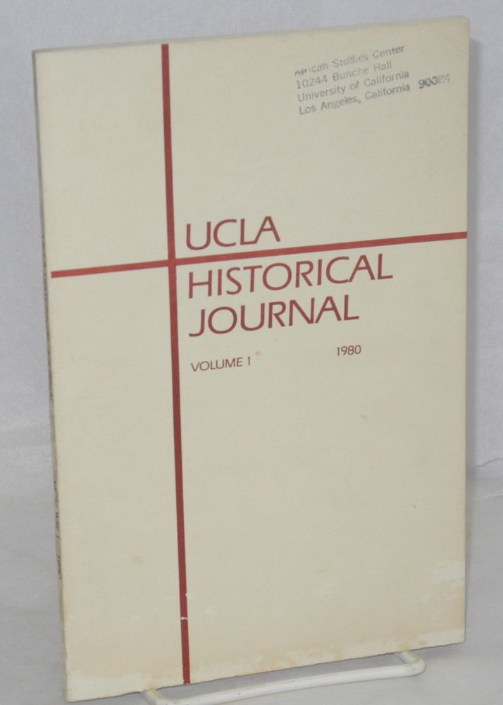 UCLA historical journal. Vol. 1, no. 1