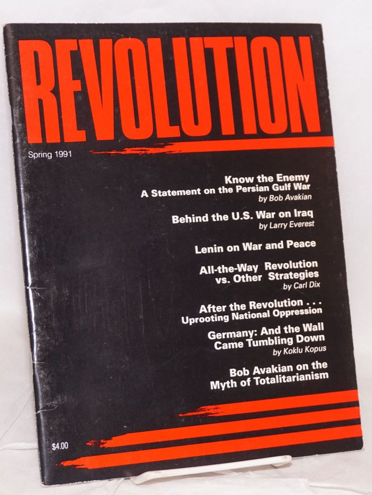 Revolution : propaganda organ of the Central Committee of the Revolutionary Communist Party (USA). No. 61 (Spring 1991)