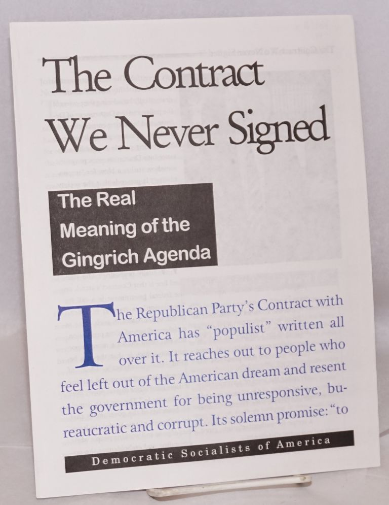 The contract we never signed: The real meaning of the Gingrich agenda