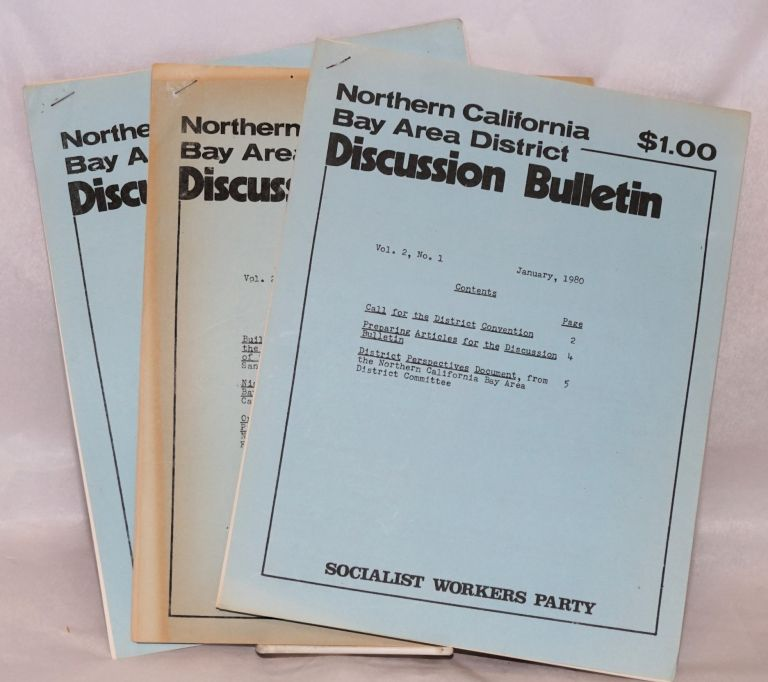 Northern California Bay Area District discussion bulletins, vol. 2, no. 1, 2 and 4. Socialist Workers Party.