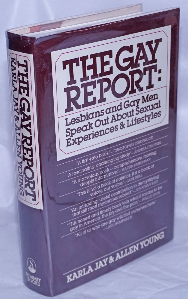 The gay report; lesbians and gay men speak out about sexual experiences and lifestyles. the technical assistance of Don Barnett, Karla Jay, Allen Young.