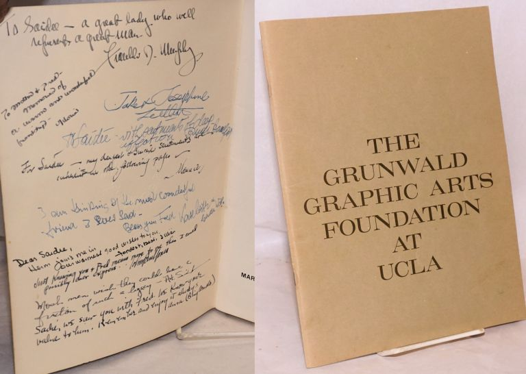 The Fred Grunwald Collection: a memorial exhibition, March 29 - May 1, 1966, Dickson Art Center, UCLA. Fred Grunwald.