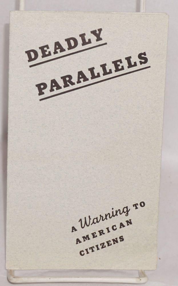 Deadly parallels, a warning to American citizens. Has the United States begun to drift into another war on foreign soil? Ray Newton.