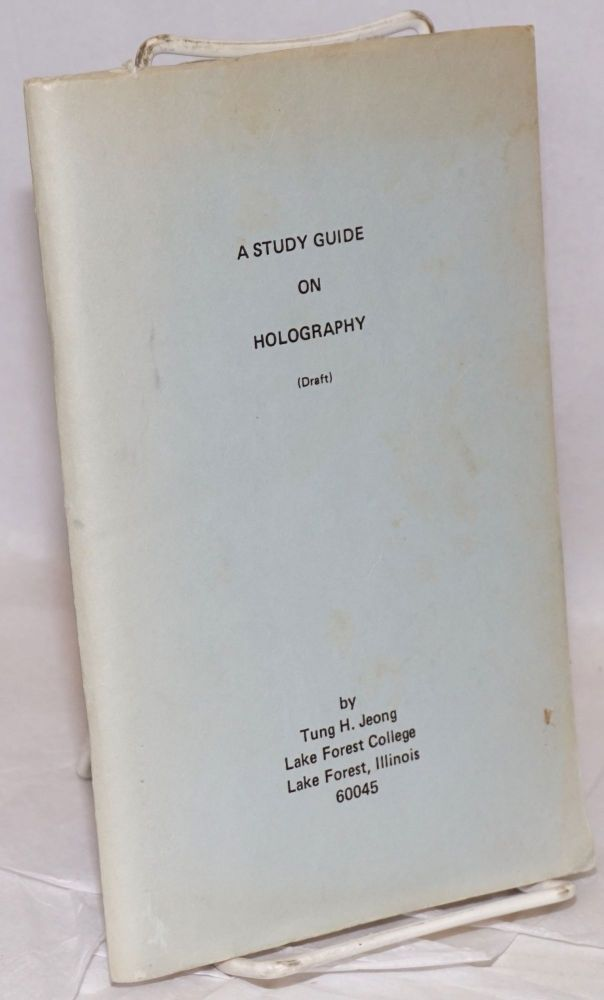 A Study Guide on Holography (Draft). Tung H. Jeong.