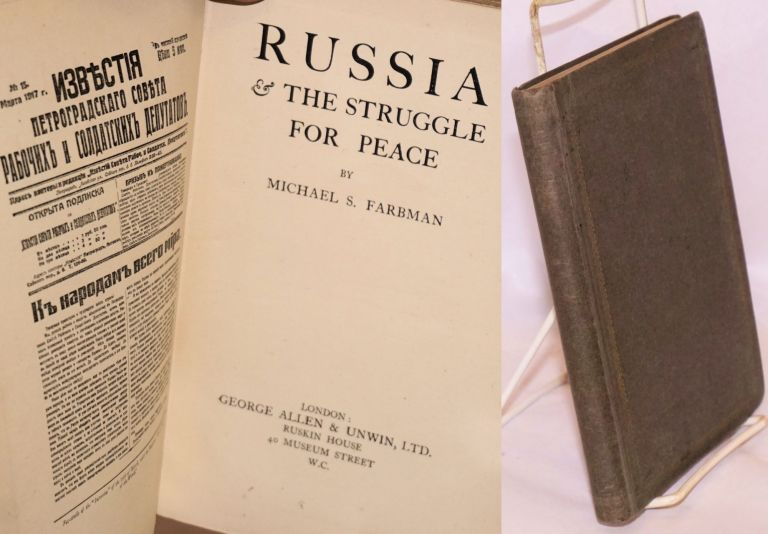 Russia & the struggle for peace. Michael S. Farbman.