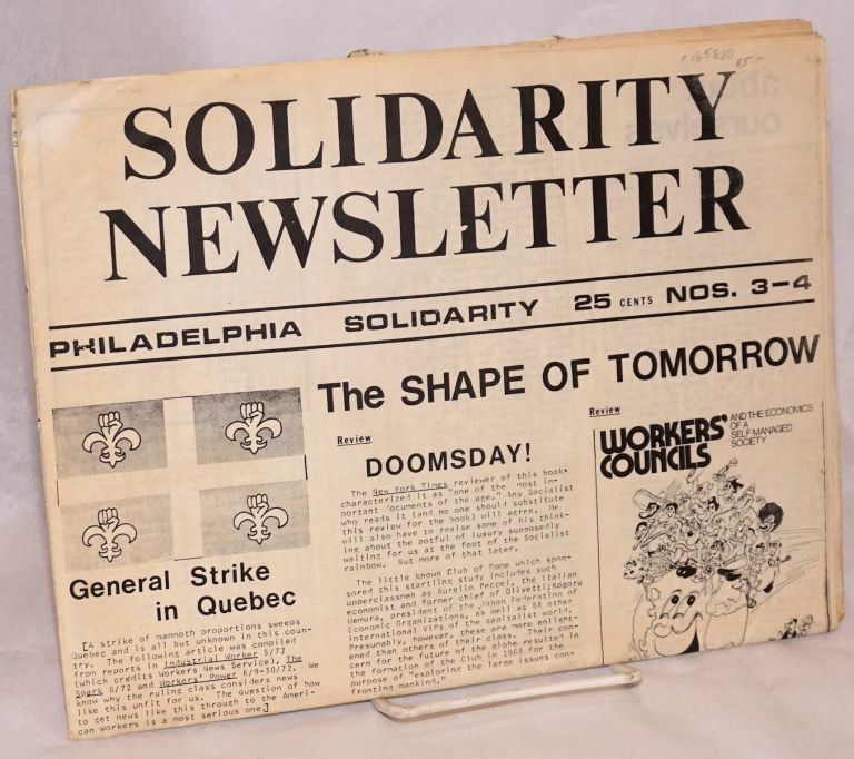 Solidarity newsletter. Numbers 3-4, July 1972