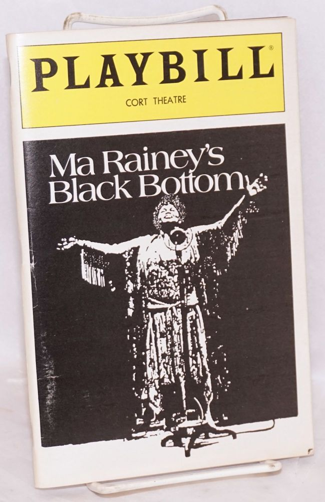 Ma Rainey's Black Bottom; Cort Theatre Playbill. August Wilson.