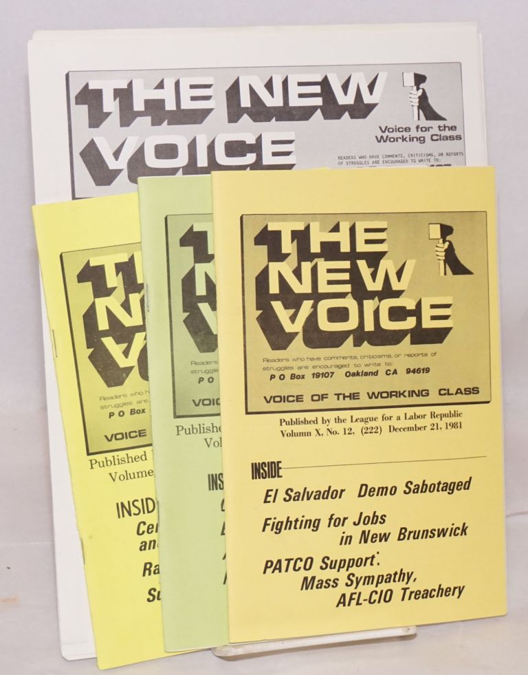 The new voice. [six issues]. League for a. Labor Republic.