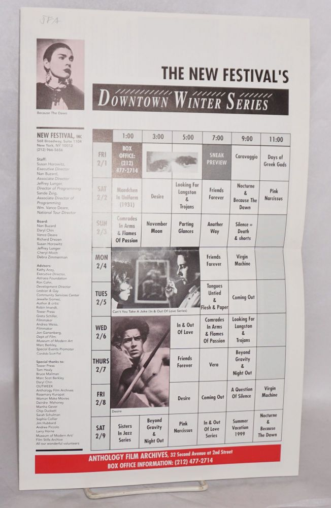 The New Festival's Downtown Winter series