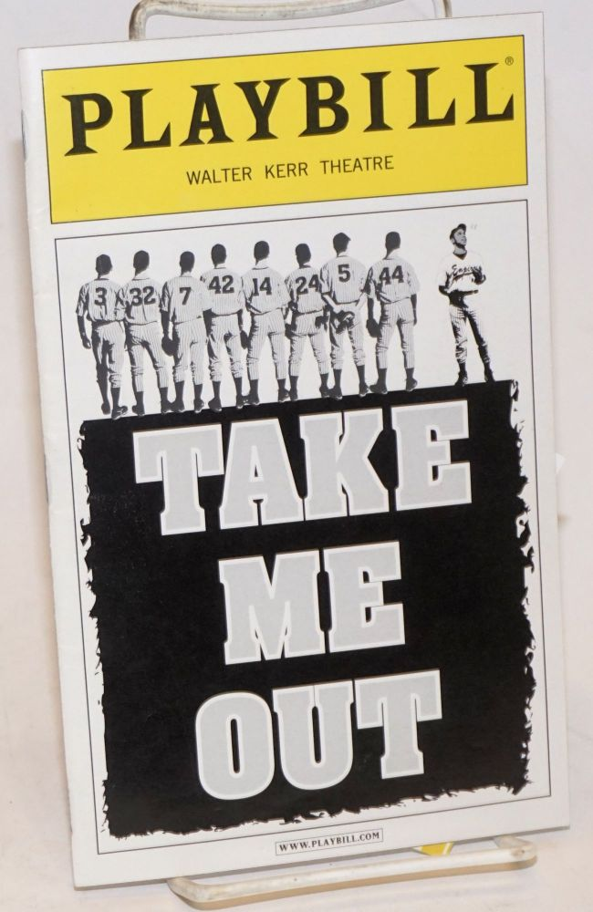 Walter Kerr Theatre presents: Take Me Out (Playbill). Richard Greenberg.