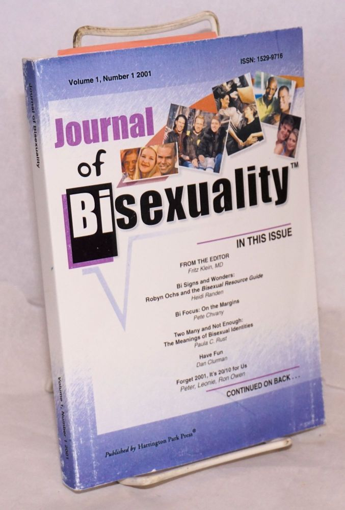 Journal of bisexuality; volume 1, number 1. Fritz Klein.