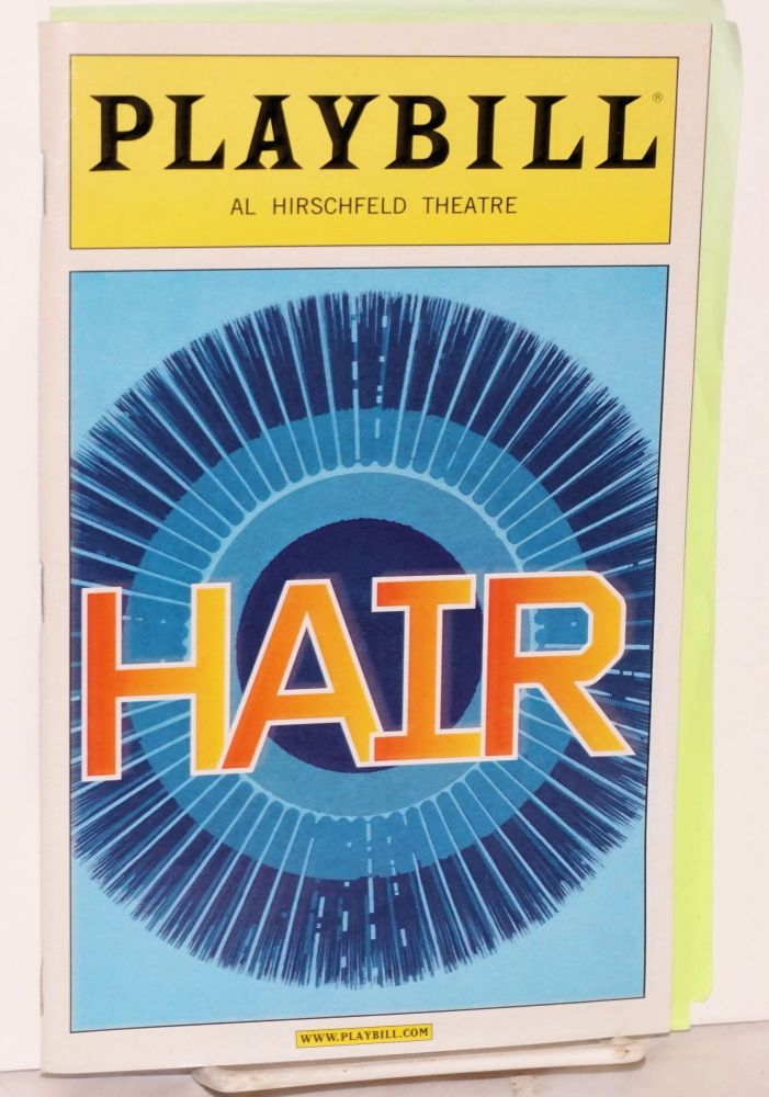 Hair; playbill for the Al Hirschfeld Theatre production