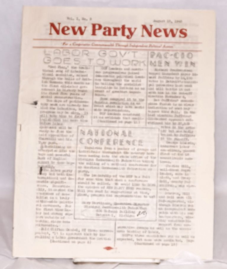 New Party News. Vol. 1, no. 3 (August 15, 1945)