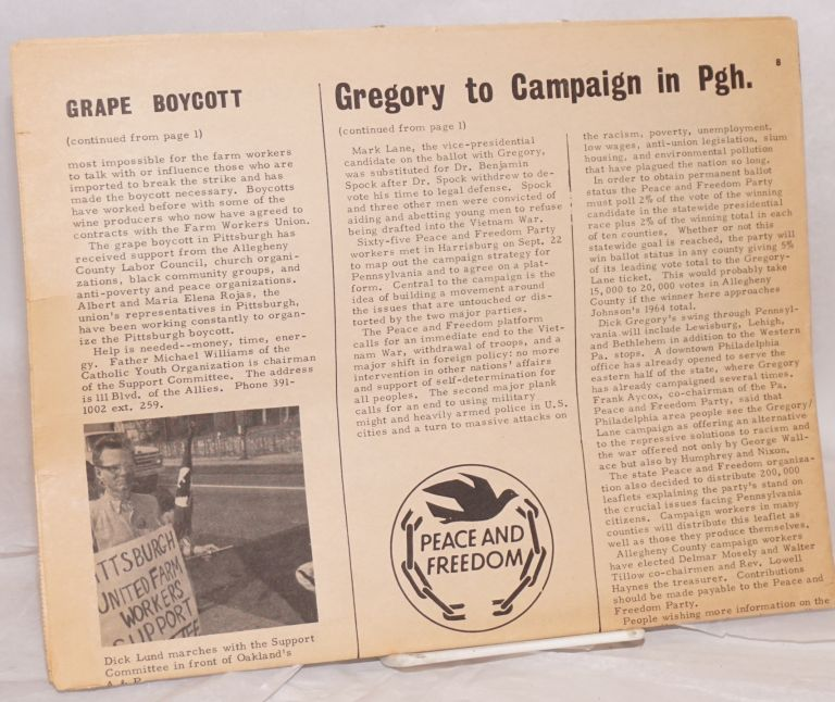 Pittsburgh Peace and Freedom News. Vol. 2 no. 9 (October, 1968)