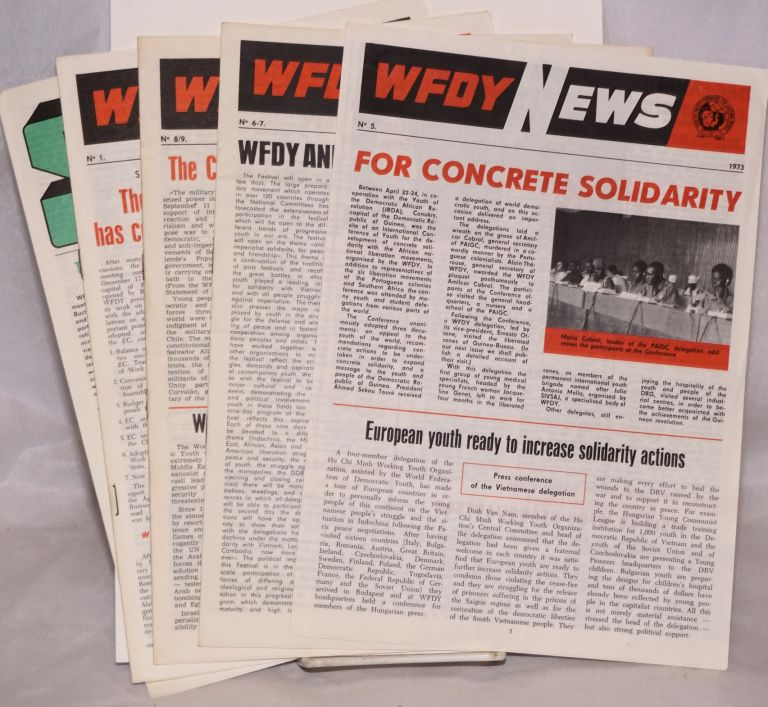 WFDY news [5 issues]. World Federation of Democratic Youth.