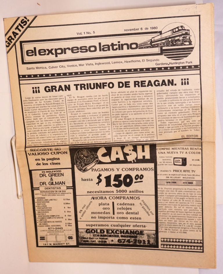 El expreso Latino vol. 1 no. 5, november 6 de 1980
