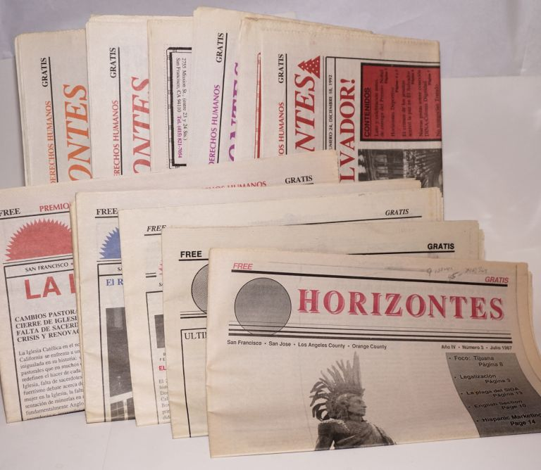 Horizontes: año 4, número 3 - año x, número 4, broken run of 9 issues