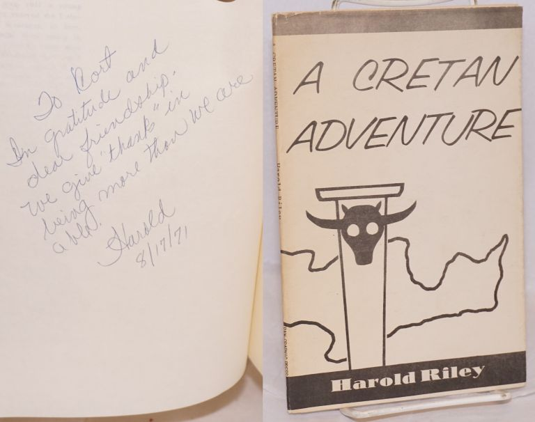 A Cretan Adventure. Sixteen poems and six archipelagoes. Harold Riley.