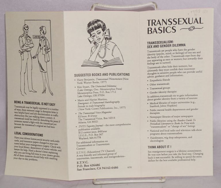 Introducing ETVC [with] Transsexual Basics [two brochures]