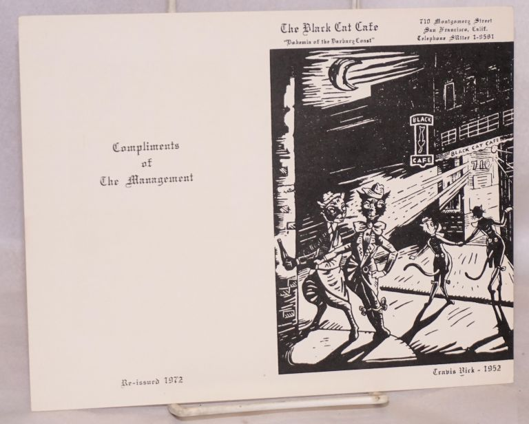 "The Black Cat Cafe; ""Bohemia of the Barbary Coast"" [greeting card]"