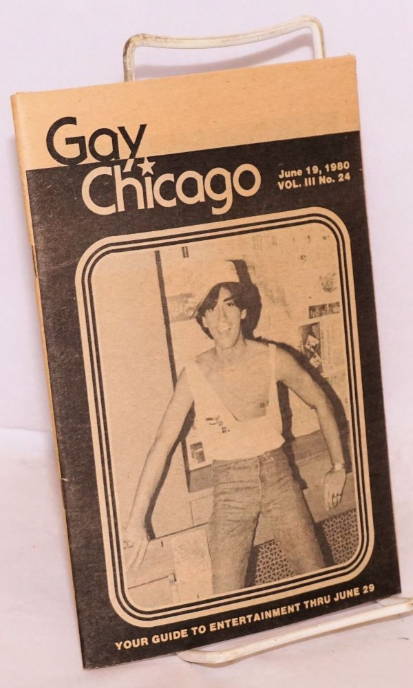 Gay Chicago: vol. 3, no 24, June 19, 1980