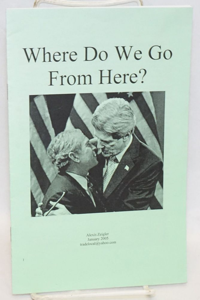 Where do we go from here? Alexis Zeigler.