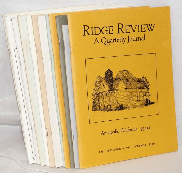 Ridge review, issues of concern to all lovers of the northern California coastal ridges [12 unduplicated issues]. Jim and Judy Tarbell.