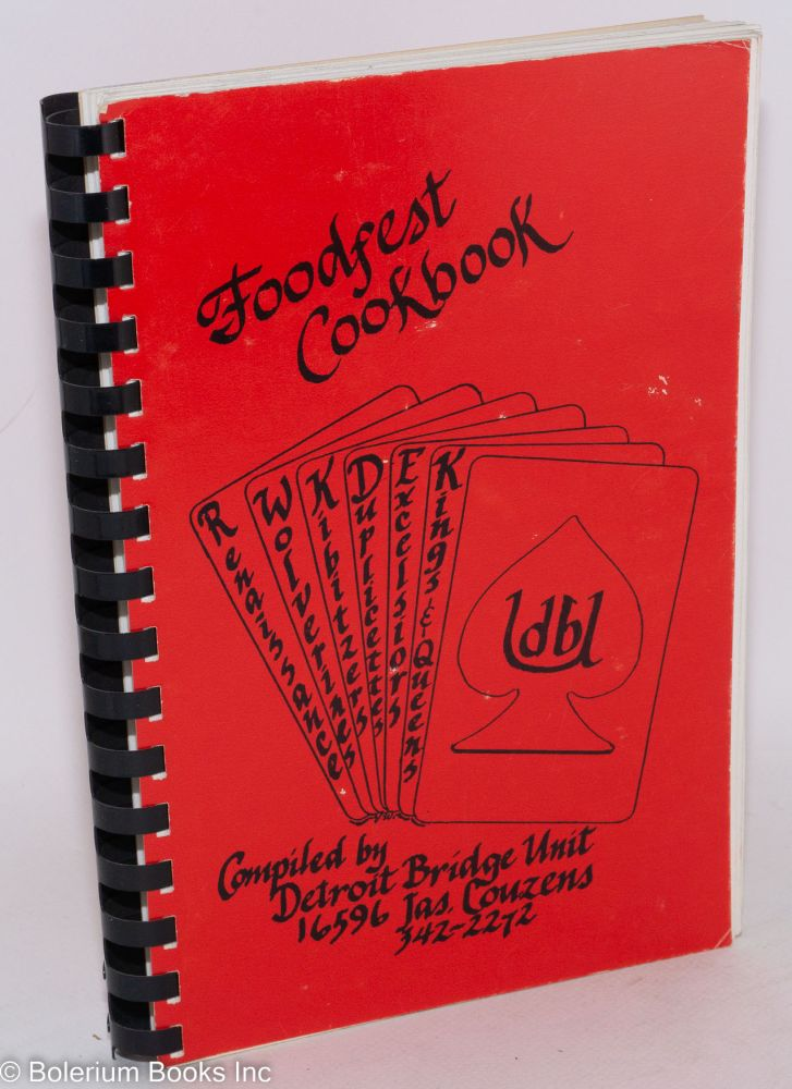 Foodfest cookbook. ABA Detroit Bridge Unit.