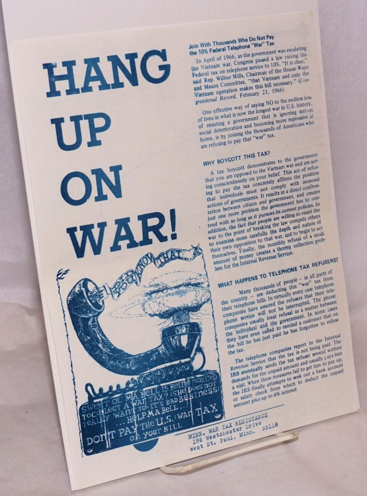 Hang up on war! [handbill]