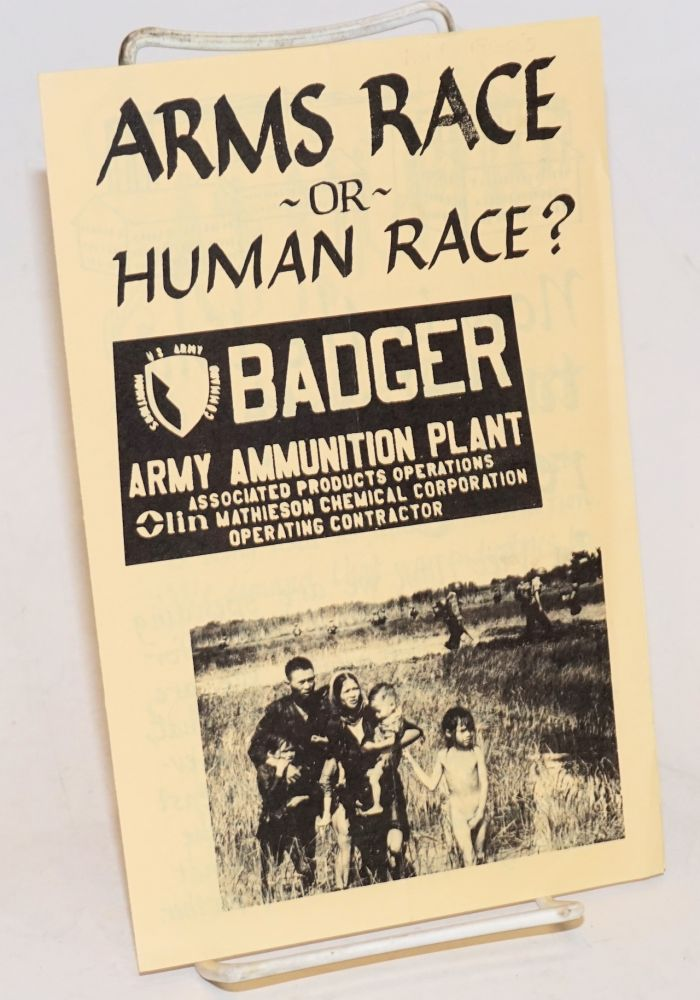 Arms race or human race? Badger for Peace.